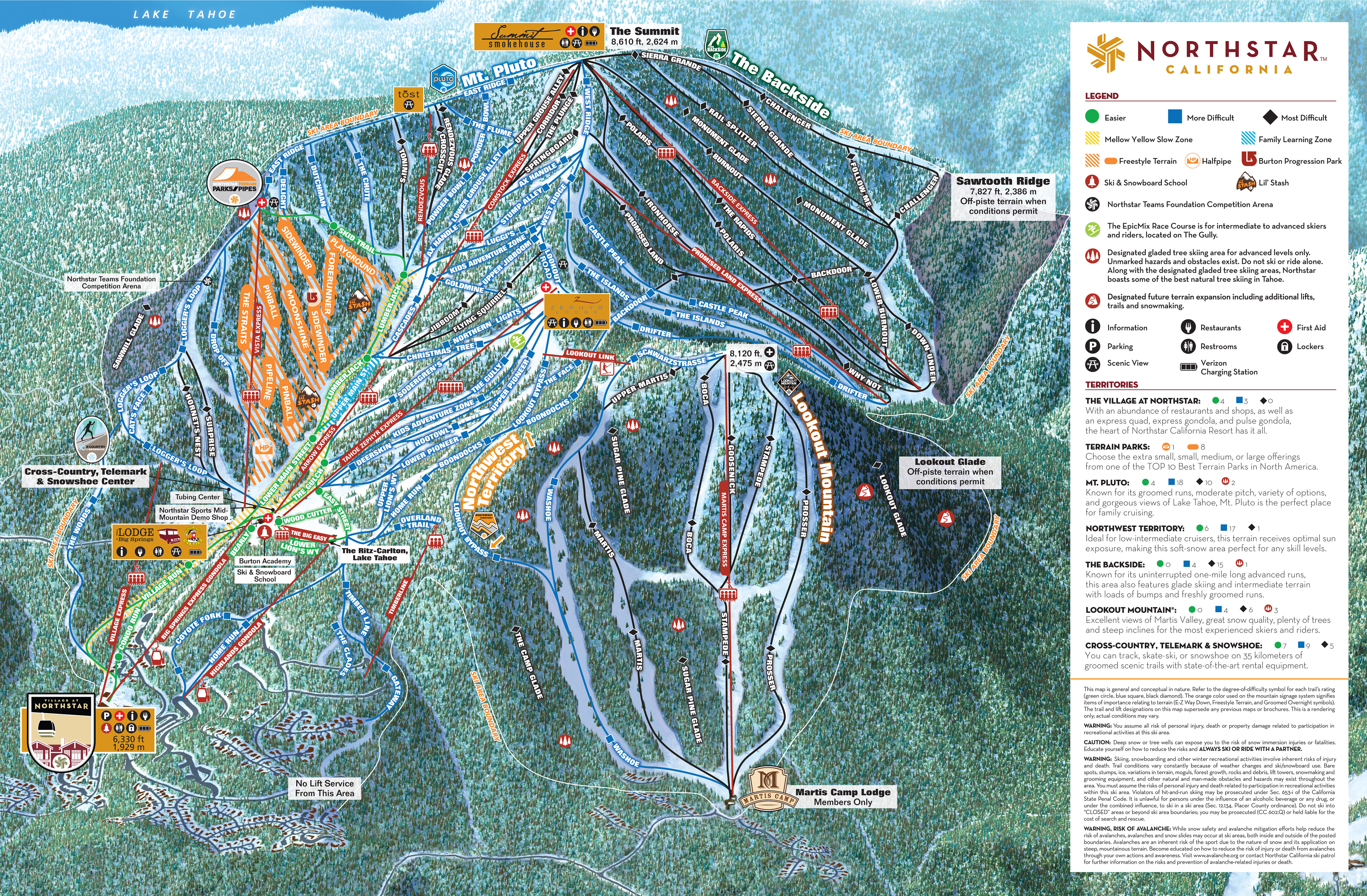 North Lake Tahoe Maps Go Tahoe North